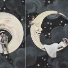 Spooning in the Moon, 1906 Vintage Comic Postcard - 5311