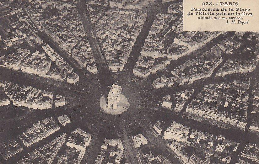 Panorama View of Paris France, Vintage Postcard - 5322
