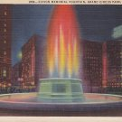 Edison Memorial Fountain in Grand Circus Park, Detroit Michigan MI 1932 Linen Postcard - 5325