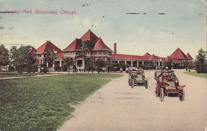 Natatorium in Douglas Park, Chicago Illinois IL 1911 Vintage Postcard - 5327