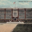 Muskogee High School in Oklahoma OK, 1912 Vintage Postcard - 5334