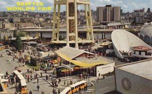 Industrial Exhibits at the Seattle Washington WA World's Fair, Chrome Postcard - 5340