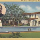 House of Mickey Rooney Encino California CA, 1940 Curt Teich Linen Postcard - 5350