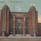 Mohammed Temple A.A.O.N.M.S. in Peoria Illinois IL, 1912 Vintage Postcard - 5360