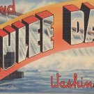 Grand Coulee Dam Washington WA, Large Letter Linen Postcard - 5368