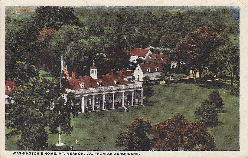 Washington's Home in Mt. Vernon Virginia VA 1921 Vintage Postcard - 4239