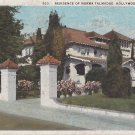 Residence of Norma Talmadge in Hollywood California CA, Vintage Postcard - 5405