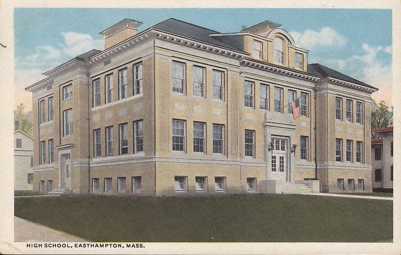 High School in Easthampton Massachusetts MA, Vintage Postcard - 5413