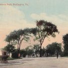 Entrance to Battery Park Burlington Vermont VT, Vintage Postcard - 5417