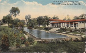 Bath House and Wading Pool Kansas City Missouri MO, Vintage Postcard - 5420