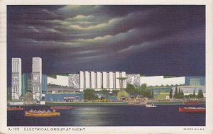 Electrical Group at Night 1934 Century of Progress Chicago Illinois IL Postcard - 5388