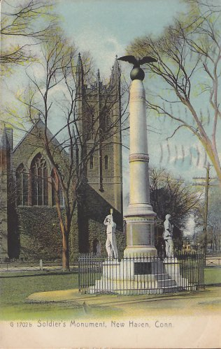 Soldier's Monument in New Haven Connecticut CT - 5424