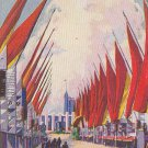 Avenue of Flags Chicago World's Fair 1933 Postcard - 5460
