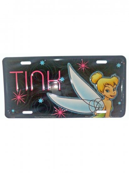 """Disney Tinkerbell """"Tink"""" Official License Plate"""