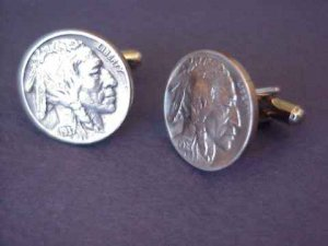 Indian Head Nickel cufflinks~Antique coins