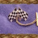 Phyl's fun and fancy ~Checkered flag tie tac tack