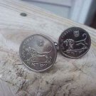 Coin Jewelry~Israeli Roaring Lion cufflinks or ers