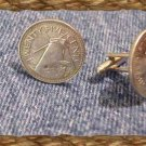 P'S COIN JEWELRY ~WIND MILL CUFFLINKS OR EARRINGS ~