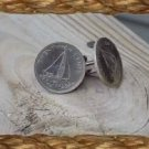 P'S COIN JEWELRY~BAHAMAS SAILING SHIP CUFFLINKS OR ER'S