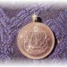 "P'S COIN JEWELRY~""VIKING"" PENDANT NECKLACE"