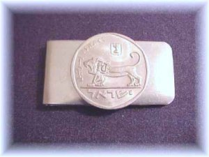 P'S COIN JEWELRY`ROARING LION MONEY CLIP~ISRAEL