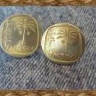 COIN JEWELRY~ ISRAELI PALM CUFFLIKES OR ERs Free ship