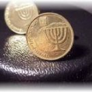 P'S COIN JEWELRY~ISRAELI MENORAH CUFFLINKS OR ERs GOLD