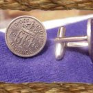COIN JEWELRY* KING GEORGE 6 P Silver CUFFLINKS OR  ER'S