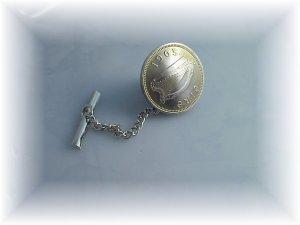 Phyl's coin jewelry~Irish harp tie tac tack pin
