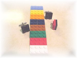 Lego plates cufflinks~many colors included~YOUR CHOICE