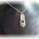 "ETERNALLY YOURS silverware pendant & 22"" sterling chain"