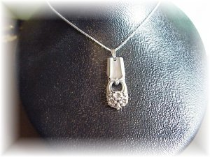 """ETERNALLY YOURS silverware pendant & 22"""" sterling chain"""
