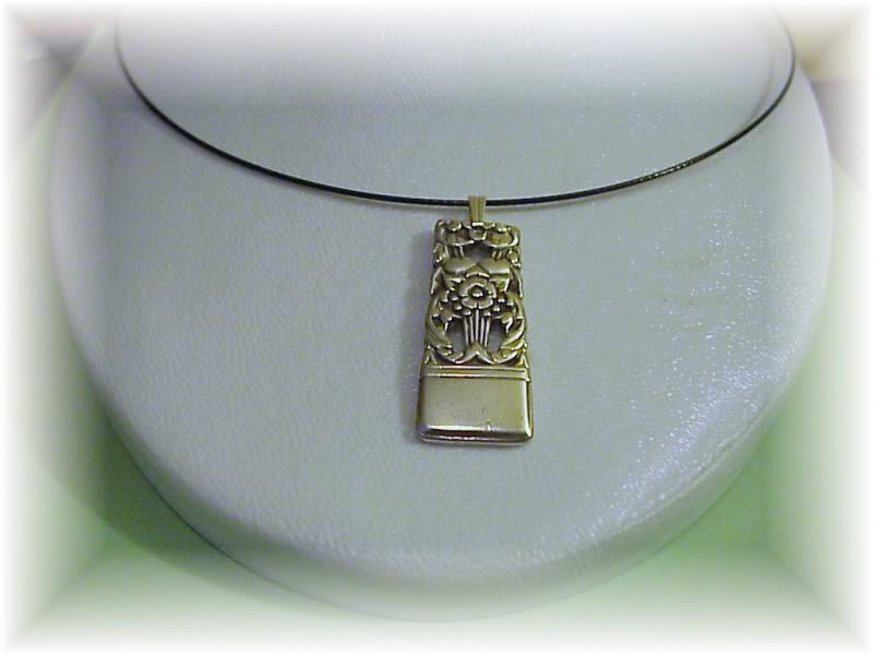 "Coronation spoon pendant & 22"" sterling chain free ship"