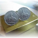 CUFFLINKS~GAUCHO COIN FROM ARGENTINA~GAUCHO HORSE BOXED