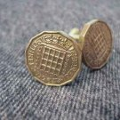 CUFFLINKS ~UK British three pence~gates