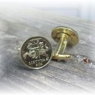 COIN JEWELRY Lithuania Knight on Horseback 20c Coin - Cufflinks FREE SHIPPING
