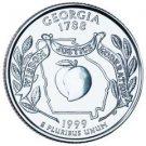 Cufflinks  GEORGIA  State Quarter 25c USA Coin - New Cuffl  FREE SHIPPING