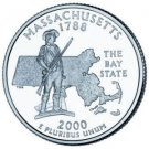 Cufflinks   Massachusetts State Quarter 25c USA Coin - New Cuffl  FREE SHIPPING