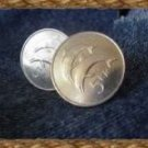 P'S COIN JEWELRY~Genuine coin CUFFLINKS ~Iceland 5 Kroner