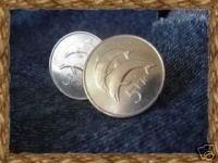 P'S COIN JEWELRY~Genuine coin CUFFLINKS ~Iceland 5 Kroner