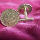COIN CUFFLINKS ~GREEK 1 DRACHMA MASTED SHIP UNCIRCULATED Free shipping and boxed