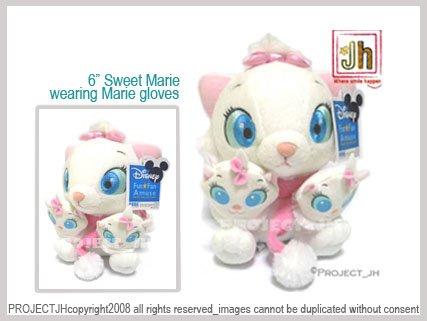 sweet Marie cat wearing Marie gloves Disney Sega Japan