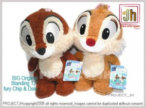 BIG Chip and Dale fury Original pair Disney Sega Japan