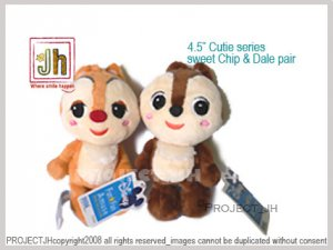 Chip and Dale cutie series pair Disney Sega Japan