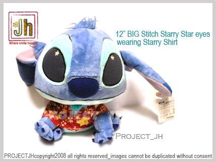 BIG Starry Star eyes Red shirt Stitch Disney Sega Japan