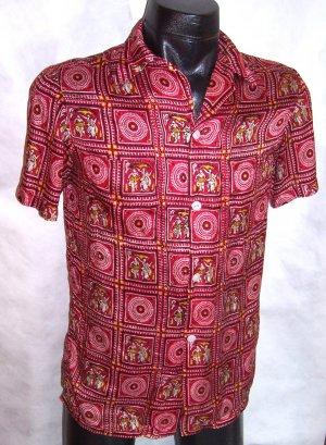 Men's Red Taj Mahal Hotel Bombay Shirt