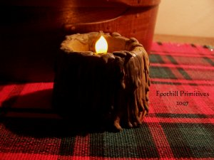Primitive Beeswax Flicker Candle