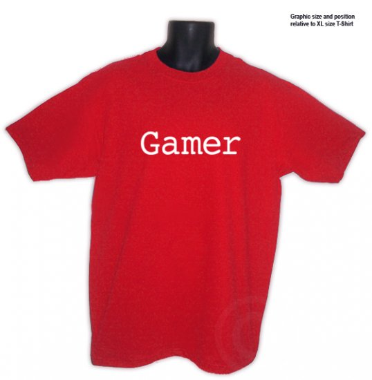 Gamer Video Game Expert RED T-shirt size XL