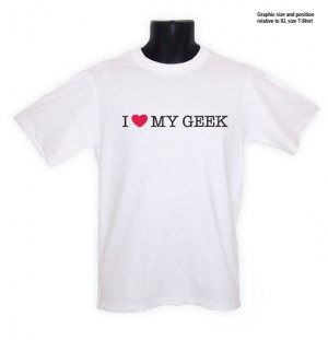 I Love (heart) My Geek Hacker COOL T-Shirt S, M, L, XL ~ FREE SHIPPING