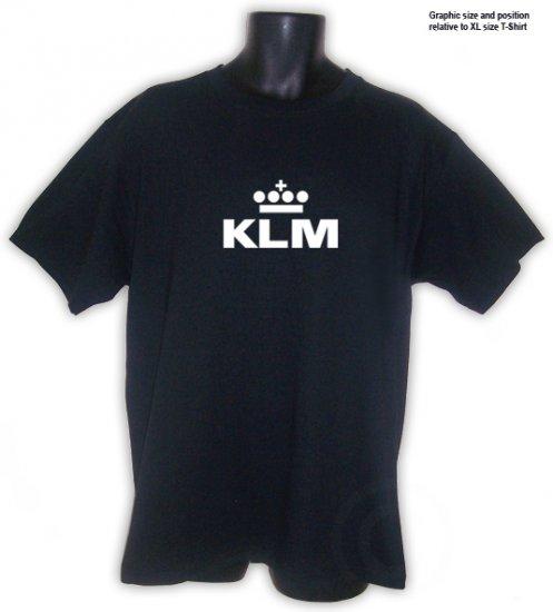 KLM Royal Dutch Airlines  Black T-SHIRT S, M, L , XL